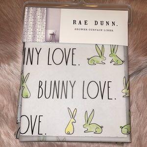RAE DUNN     BUNNY LOVE Shower Curtain Liner